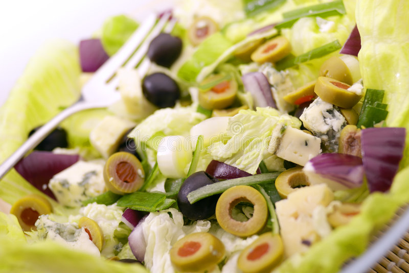 The Salad. Fresh Salad Appetizer on the plate royalty free stock image