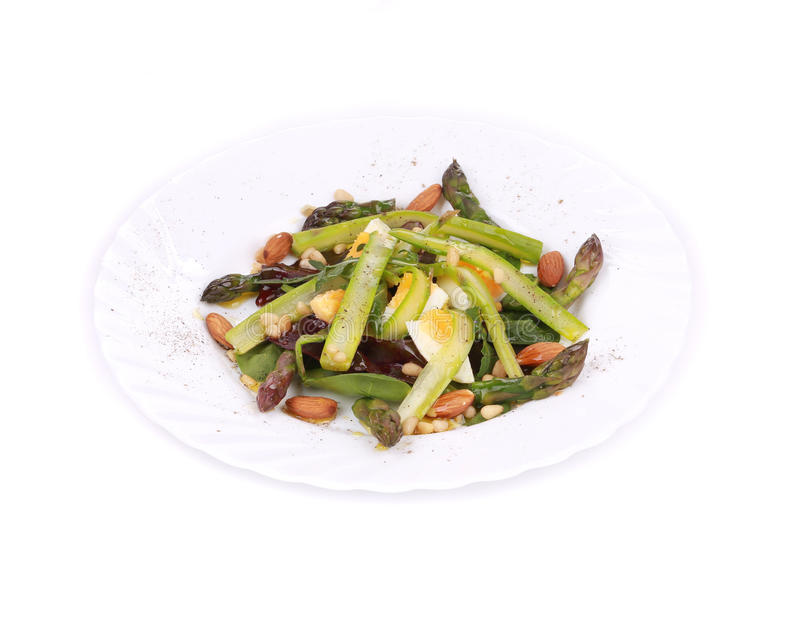 Salad with asparagus. royalty free stock photography