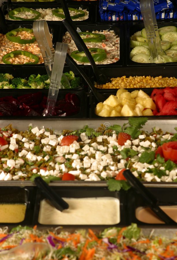 Download Salad Bar stock image. Image of vegetables, dressing, cheese - 512309
