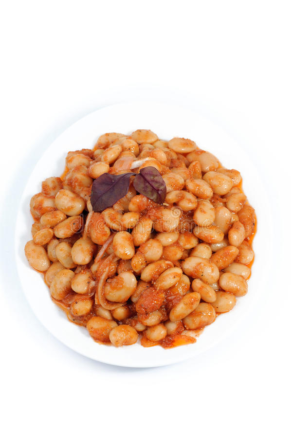 salad with beans, food closeup, top view isolated on white background stock image