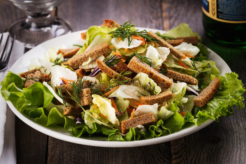 Caesar Salad  Caesar Dressing Is Sour Taste Of Vinegar