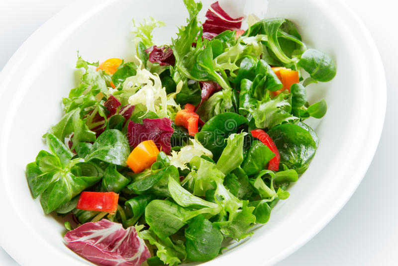 Salad in bowl stock photo