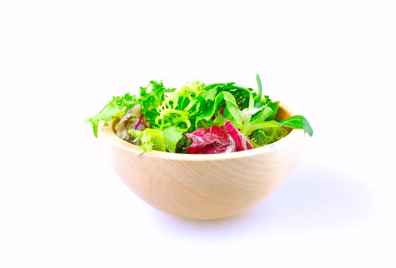 Salad bowl isolated royalty free stock photos