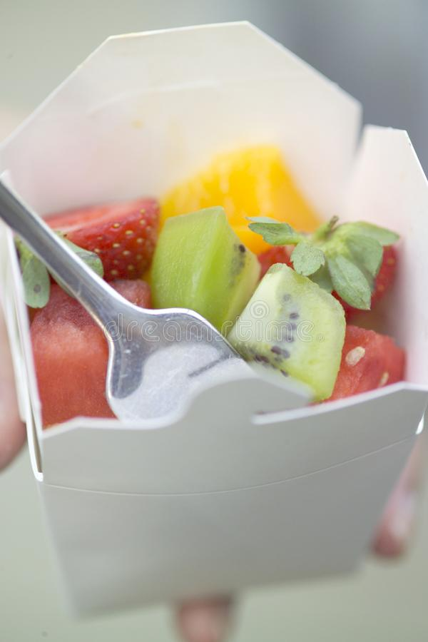 Download Salad in a box stock image. Image of strawberry, fork - 25131645