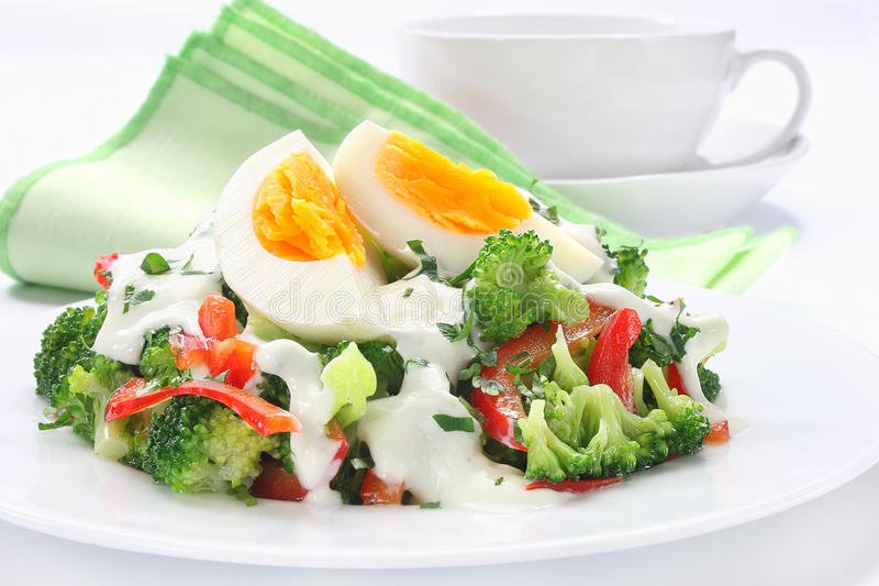 Salad with broccoli royalty free stock image