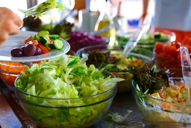 Salad buffet. stock images