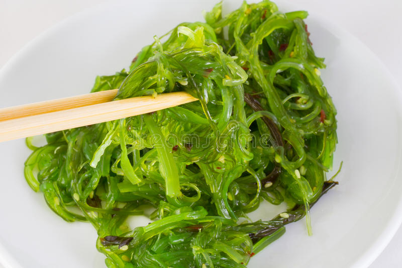 Download Salad Chuka In White Dish With Chopsticks Stock Photography - Image: 34568492