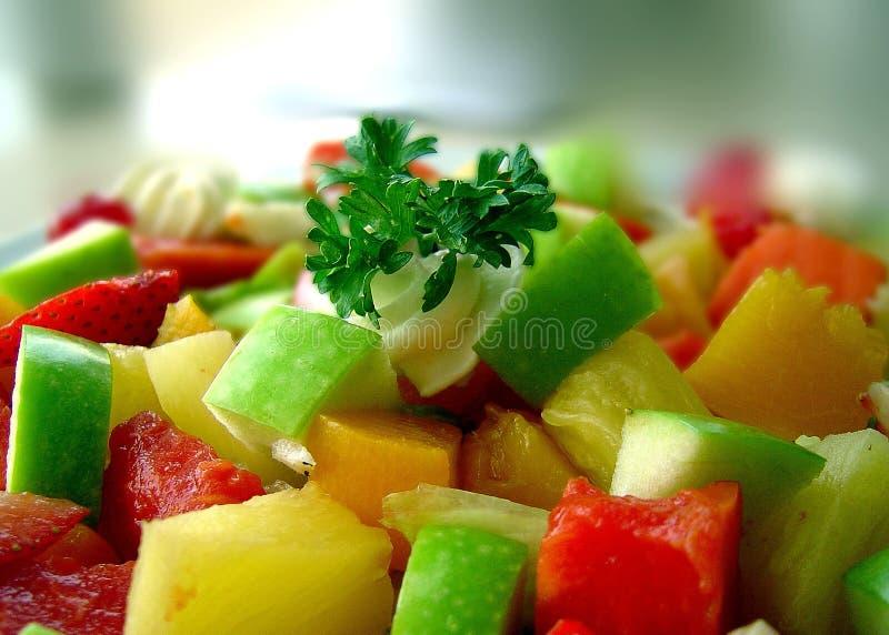 Salad close up. Primer plano ensalada de vegetales stock images