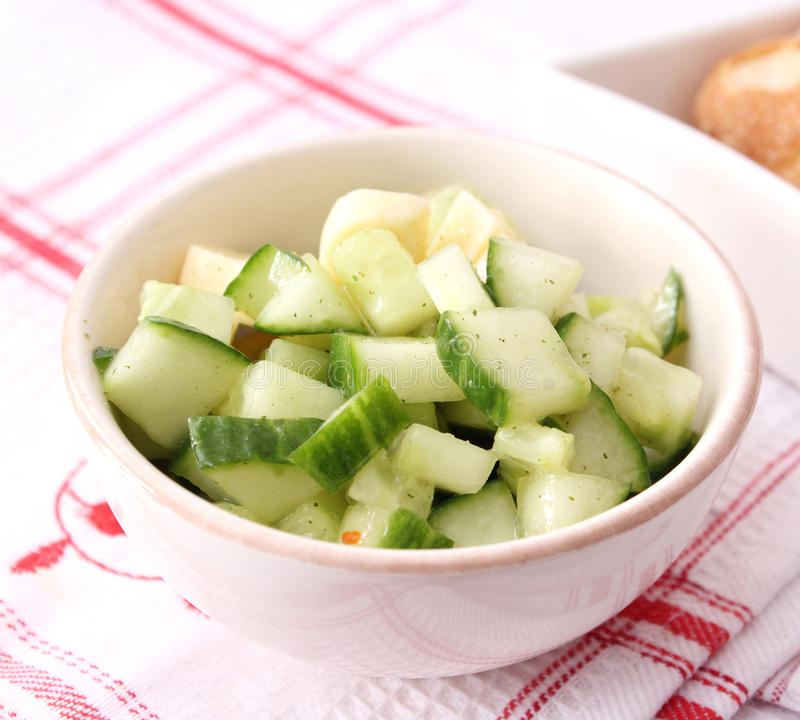 Salad of cucumber stock image