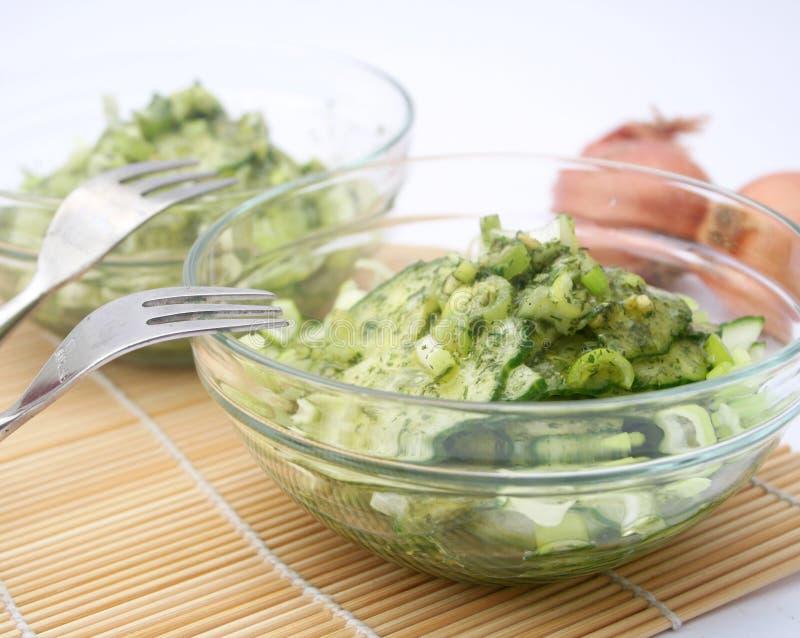 Salad of cucumber stock photography