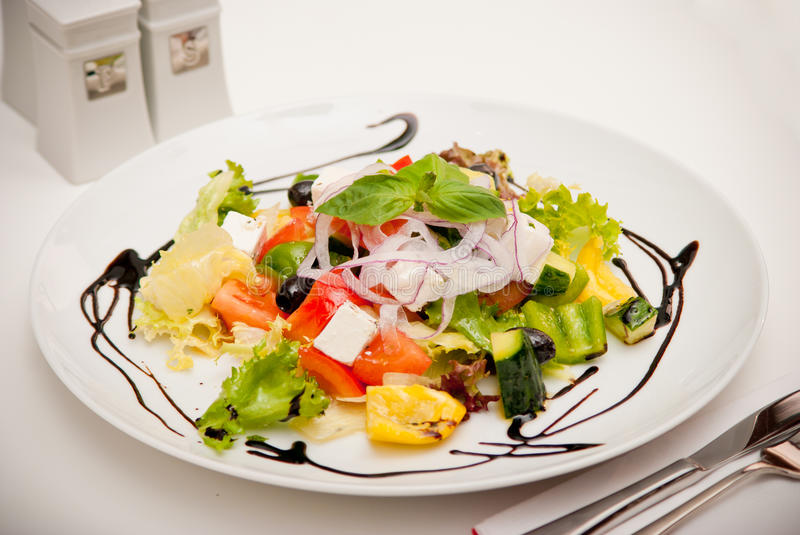 Download Salad With Feta Cheese And Olives Stock Image - Image: 22196297