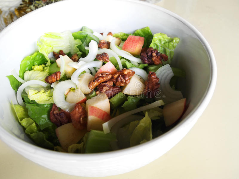Download Salad Greens With Apple, Walnuts Stock Image - Image: 39796129
