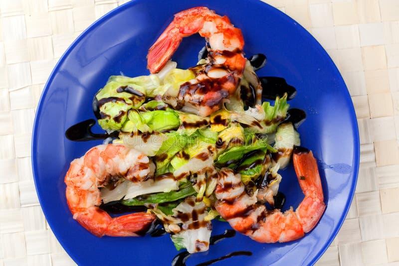 Download Salad Of Grilled Argentinian Prawns With Vinegar Stock Image - Image: 12361587