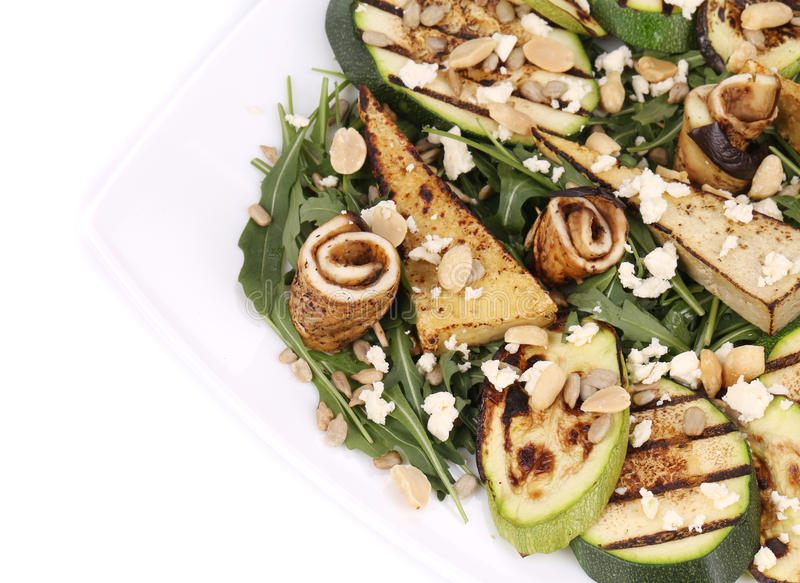 Download Salad With Grilled Vegetables And Tofu. Stock Photo - Image of delicious, appetizer: 41528930