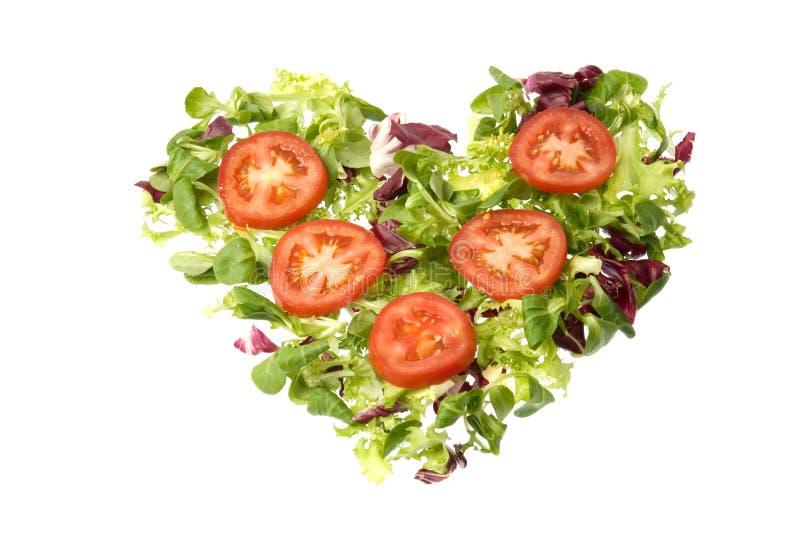Salad heart royalty free stock photo