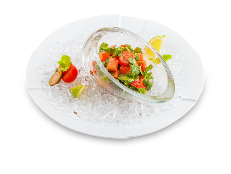 Salad with ice. royalty free stock photography