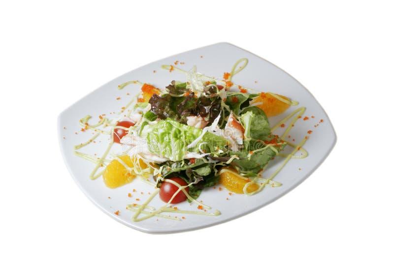 Salad with mandarin segments stock photography