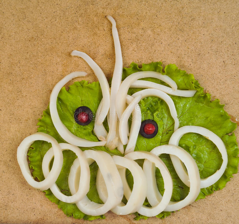 Download Salad with octopus stock photo. Image of gourmet, horizontal - 26391586