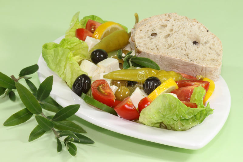 Download Salad With Olives Royalty Free Stock Images - Image: 13037669