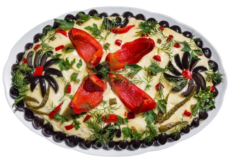 Download Salad Olivier stock photo. Image of lunch, garnish, dish - 25362836