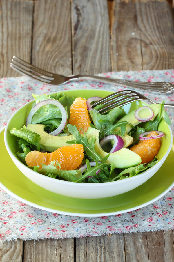 Download Salad With,orange,avocado,onion And Arugula Stock Image - Image of dieting, health: 29028657