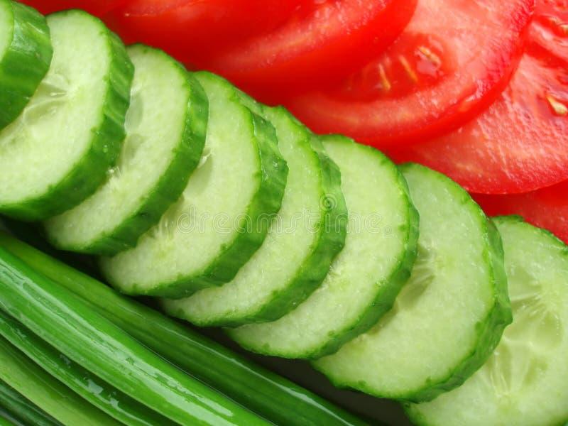 Salad on plate stock image