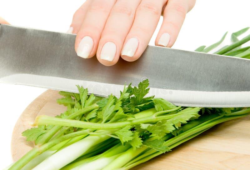 Salad preparation stock images
