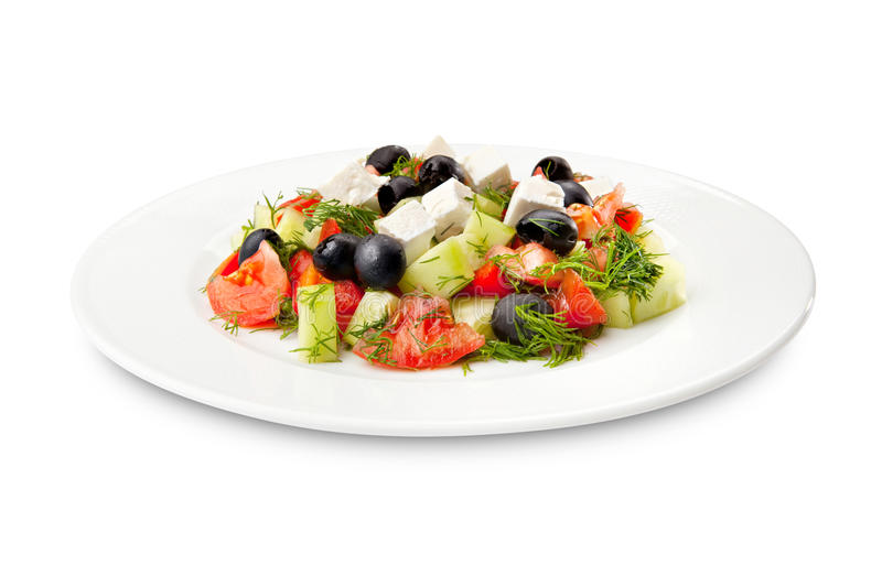 Salad with raw vegetables stock photos