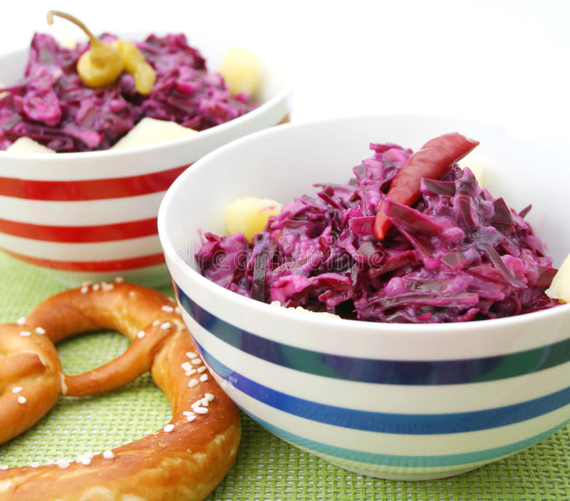 Salad of red cabbage royalty free stock image