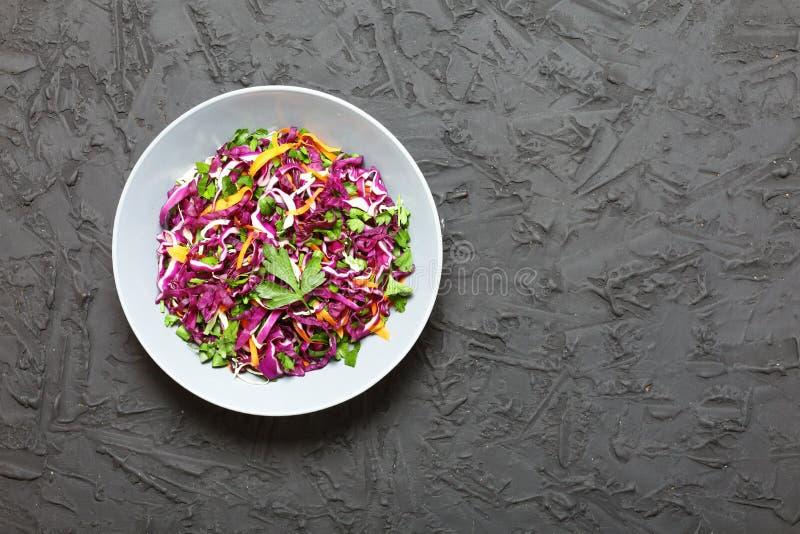 Salad, red cabbage, Vegetarian food, Lenten food, vegetables, h stock images