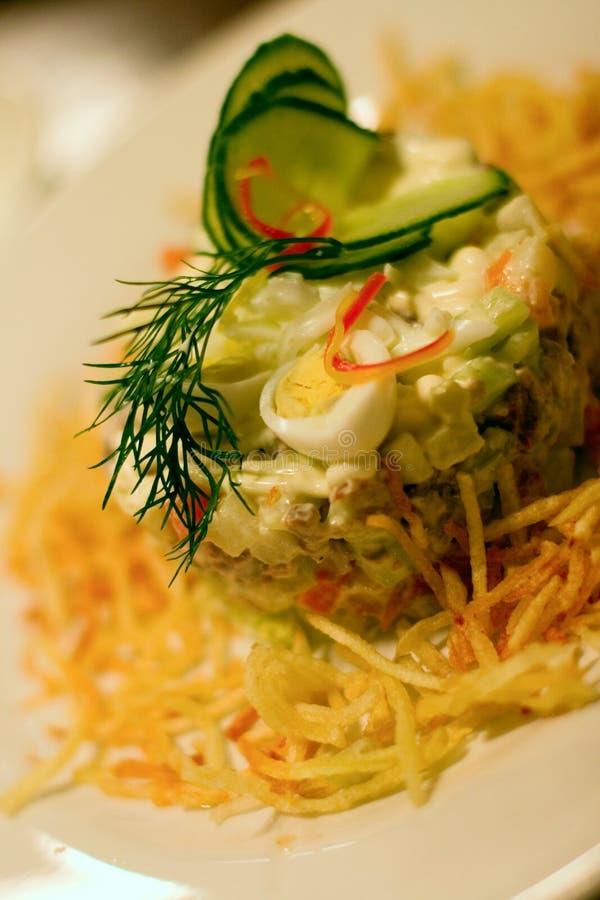 Salad in restaurant royalty free stock photos