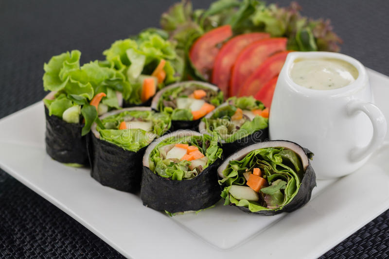 Salad roll royalty free stock photos
