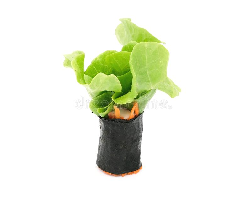 Salad roll royalty free stock photography