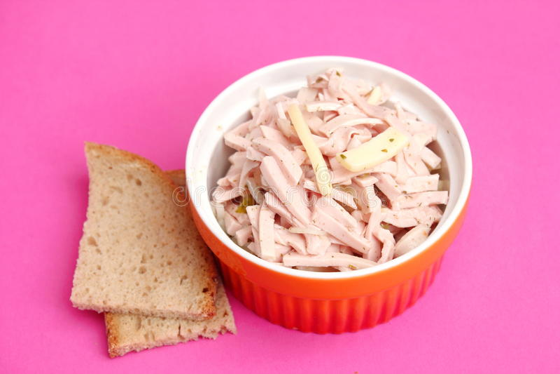 Download Salad Of Sausage Stock Photo - Image: 38919680