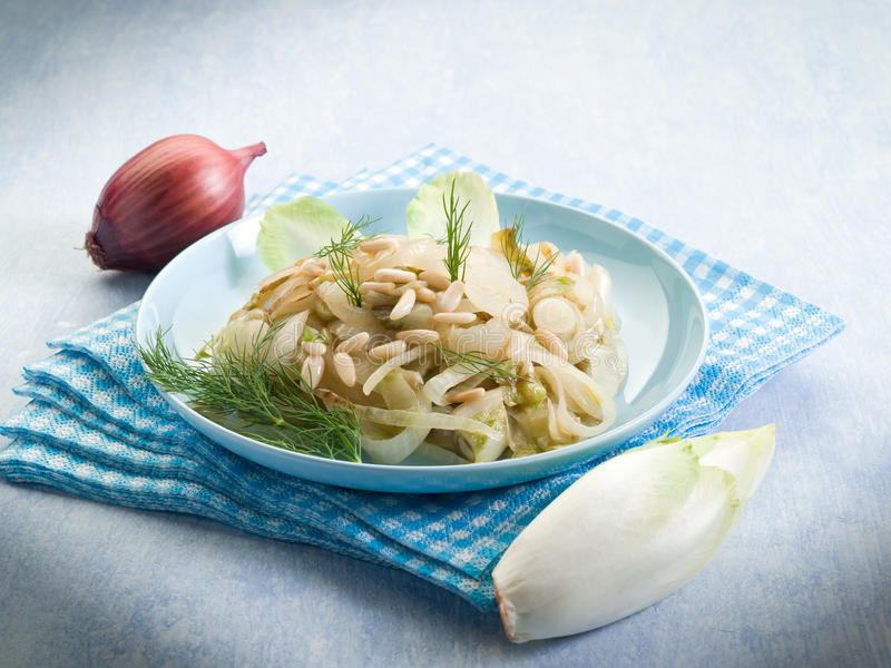 Download Salad with sauteed endive stock image. Image of sauteed - 22899541