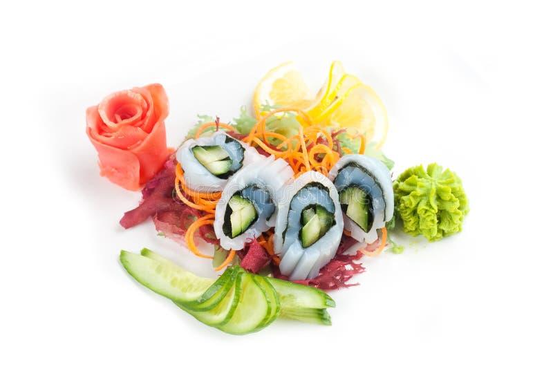 Salad with seafood stock image