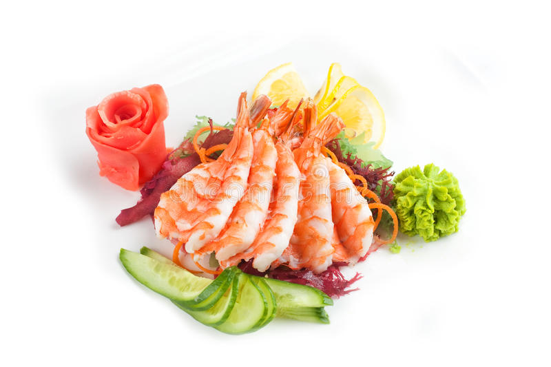 Salad with seafood royalty free stock photography