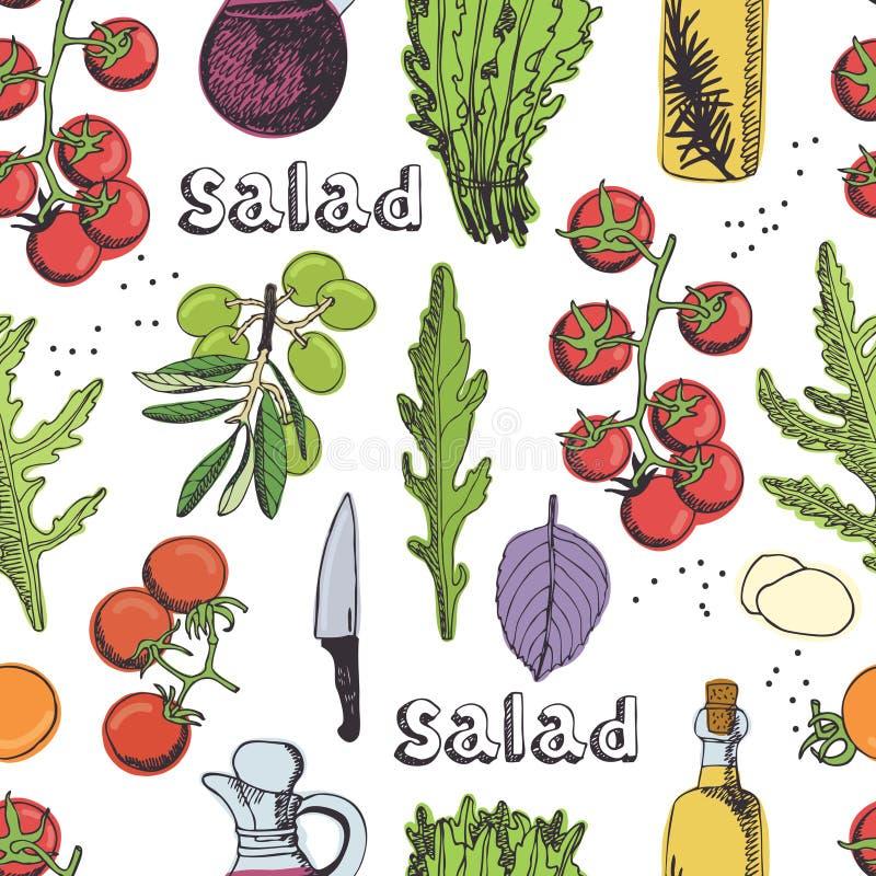 Download Salad seamless background stock vector. Illustration of dinner - 37111903