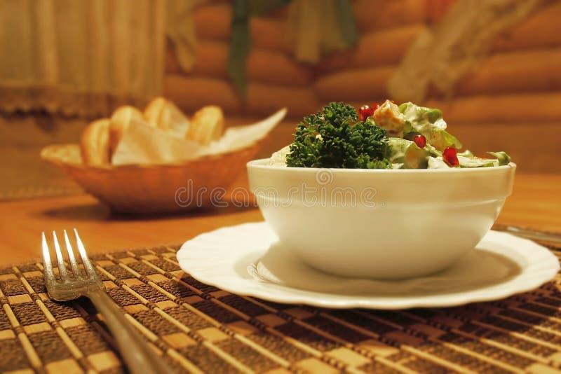 Download Salad served for meal stock image. Image of dishware, kitchen - 4568359