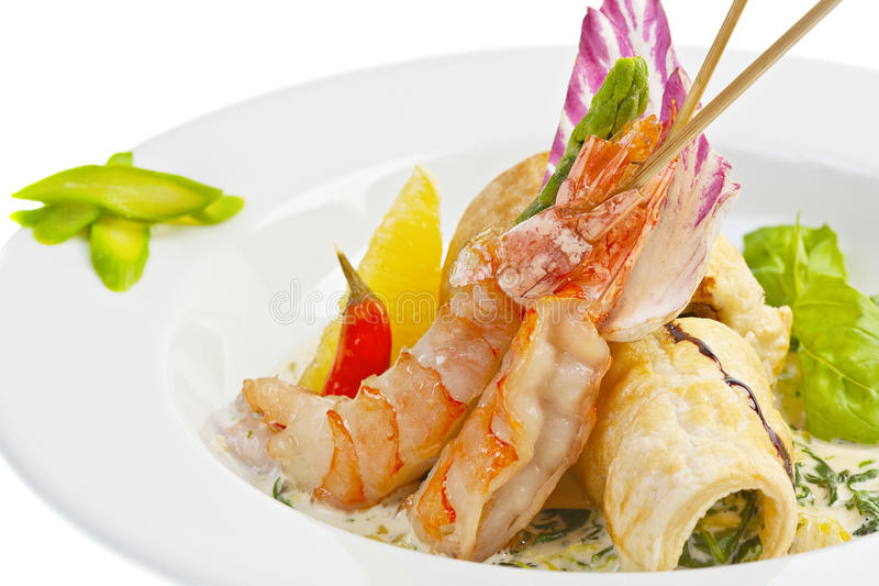 Download Salad with shrimp stock image. Image of restaurant, shellfish - 31234789