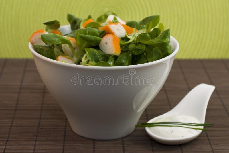 Salad Surimi And Tzatziki Stock Photography