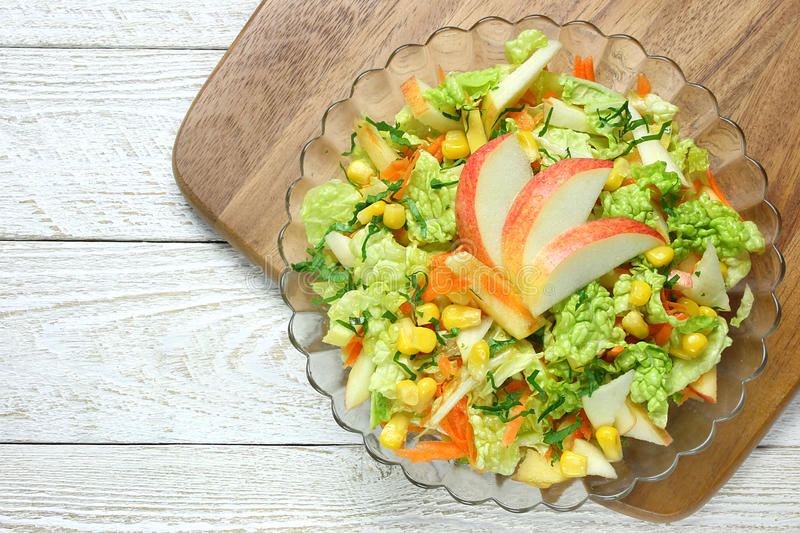 Download Salad Of Vegetables And Apples Stock Image - Image of carrots, cabbage: 39503185