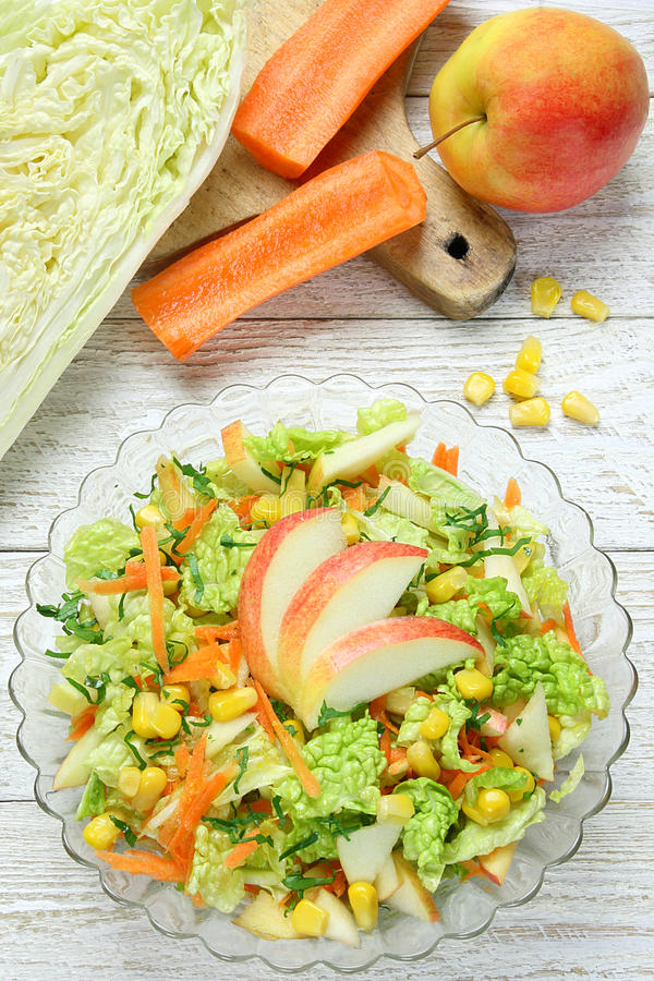 Download Salad Of Vegetables And Apples Stock Photo - Image of vegetables, vitamins: 39503188