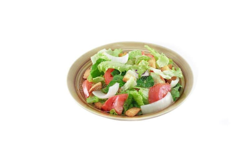 Salad on white stock photo
