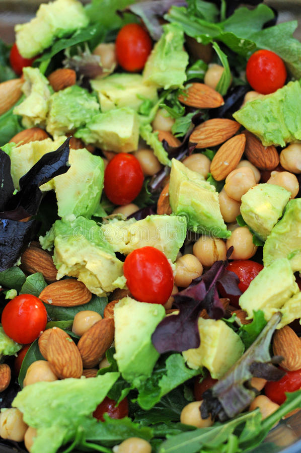Free Salad With Vegetables And Nuts Royalty Free Stock Image - 29013976