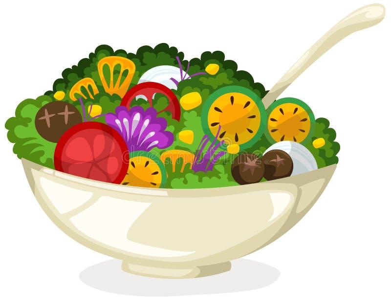 Salada ilustração stock