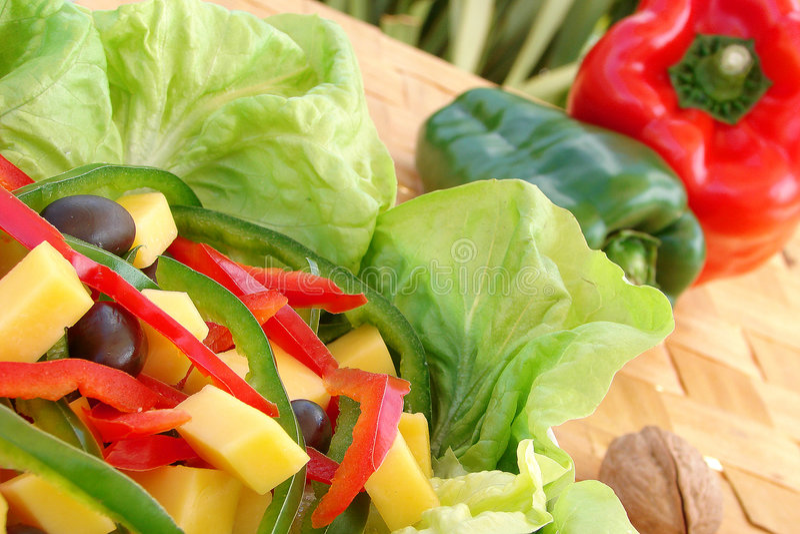 salada royaltyfri fotografi