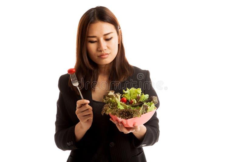 Salada asiática do ódio da mulher de negócio foto de stock