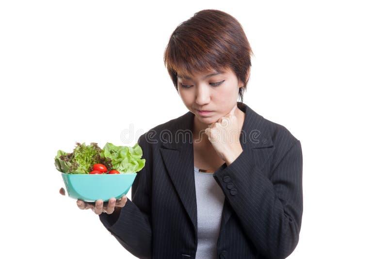 Salada asiática do ódio da mulher de negócio fotos de stock royalty free