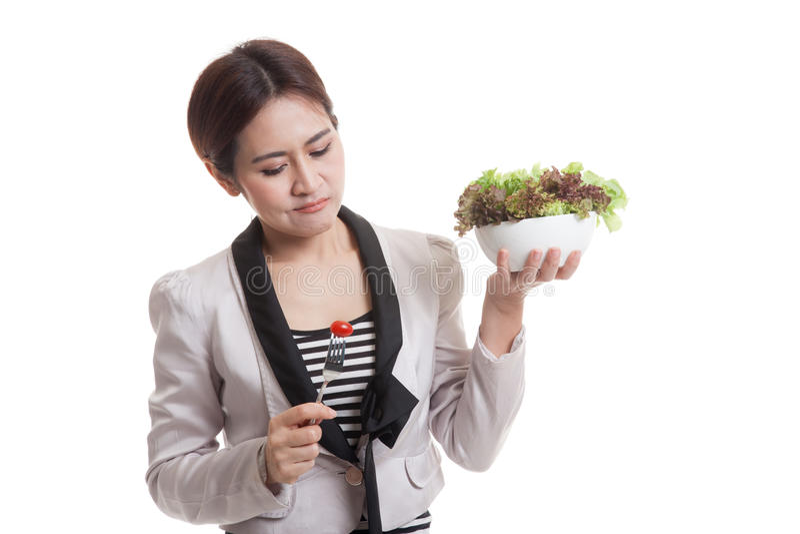 Salada asiática do ódio da mulher de negócio foto de stock royalty free